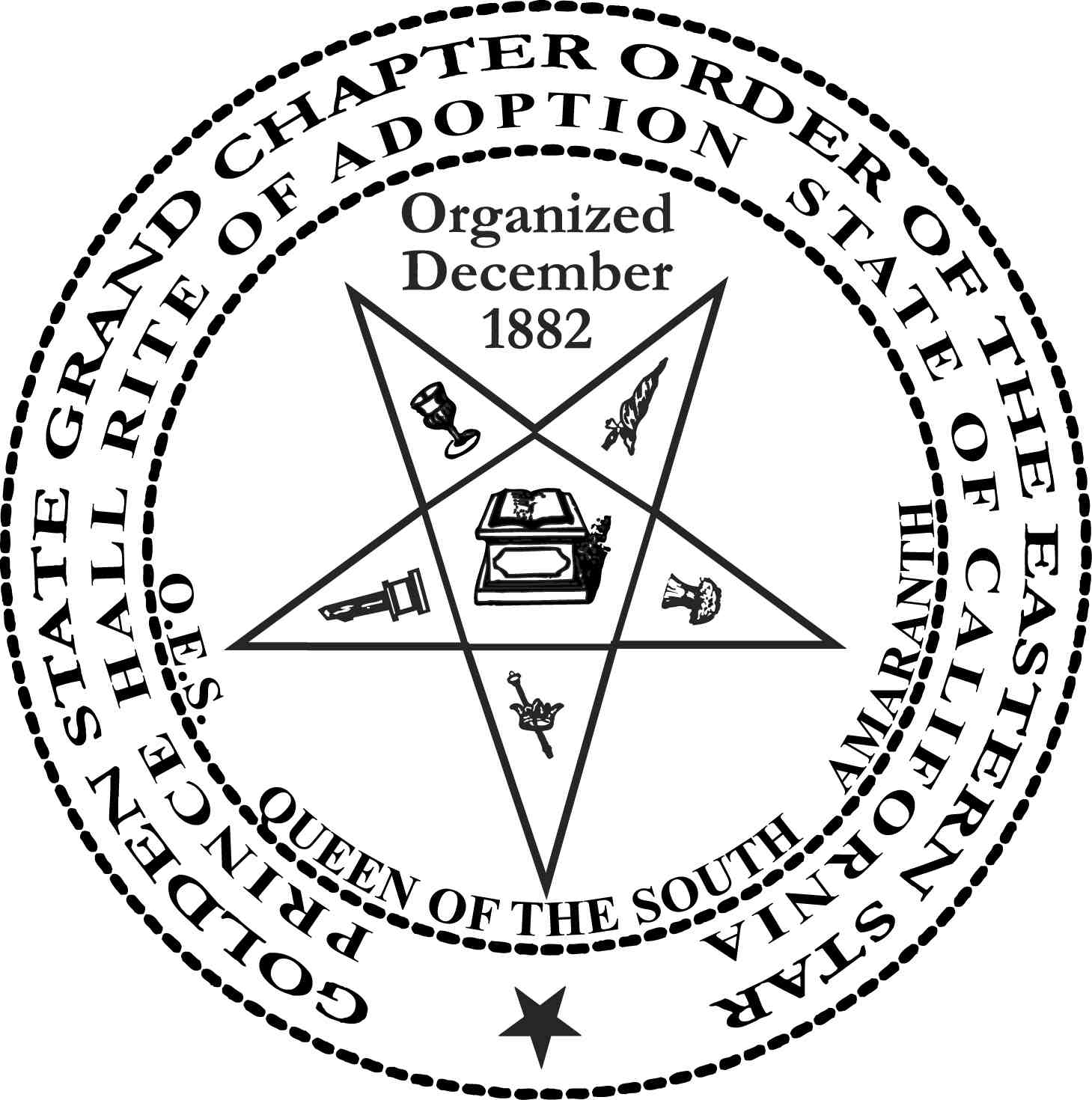 Golden State Grand Chapter, Order of the Eastern Stars, Prince Hall Rite of Adoption, State of California